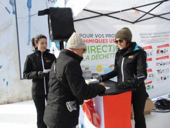 Julie & Maeva ont accueilli les skieurs pendant ces deux journées à la Mauselaine
