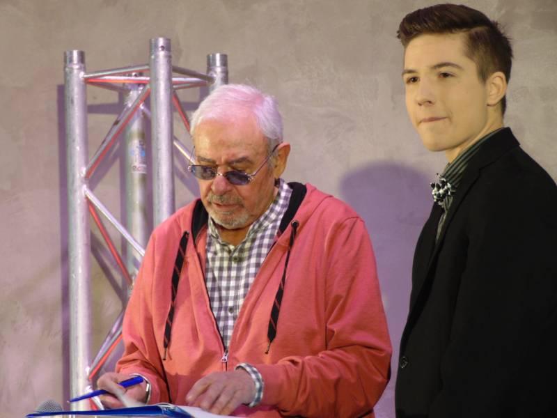 Michel Morette en compagnie d'un jeune talent