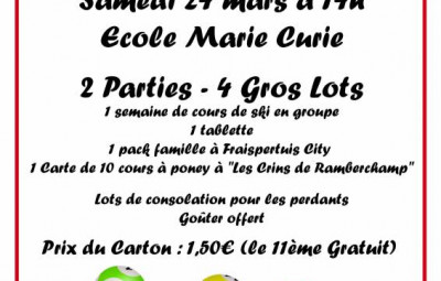 loto marie curie 2018
