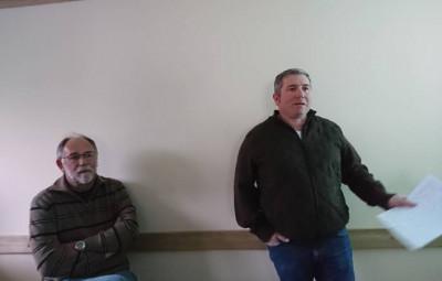Davy Ravignon a présenté le nouveau comité du club ainsi que les projets pour l'année 2018.