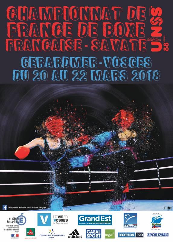 chpt de france UNSS boxe française 2018 gérardmer