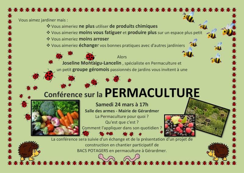 permaculture affiche conférence couleur