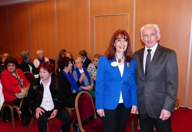 Le Président de la zone Bernard Masson accueille Florence Malaise Gouverneur de la région Est