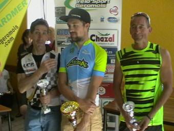Le podium de la 1ère catégorie