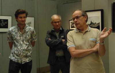 Michel brissaud s'est fait un plaisir de présenter cette nouvelle exposition ainsi que l'atelier qu'il anime.