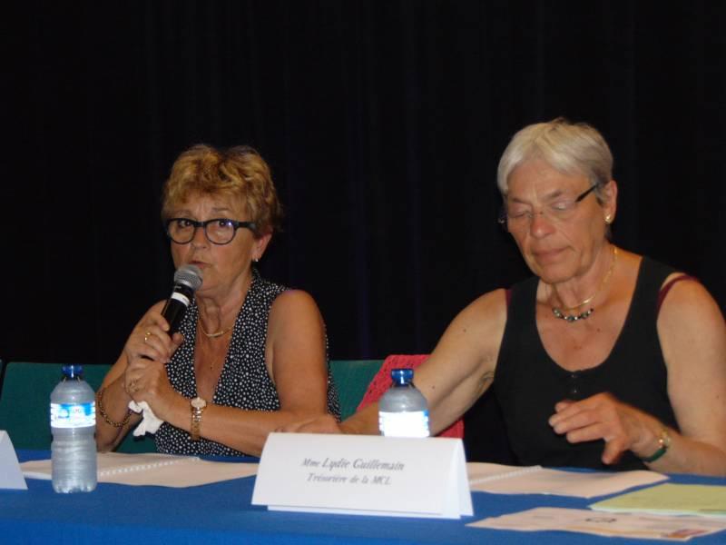Martine Crouvezier & Lydie Guillemain, présidente & trésorière de la Maison