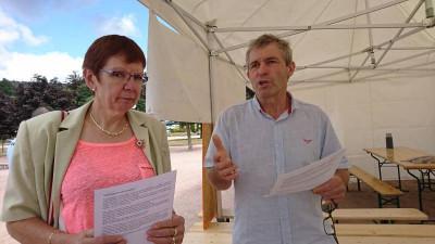 Gérard Coinchelin en compagnie de Corinne Kaufmann.