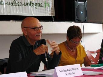 Le secrétaire de l'association Michel Georges.
