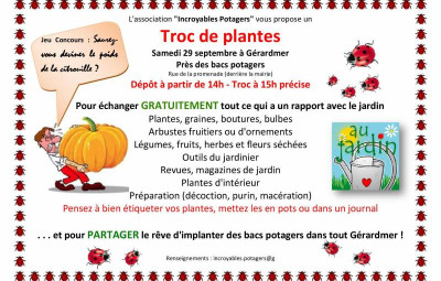troc de plantes Affiche 2