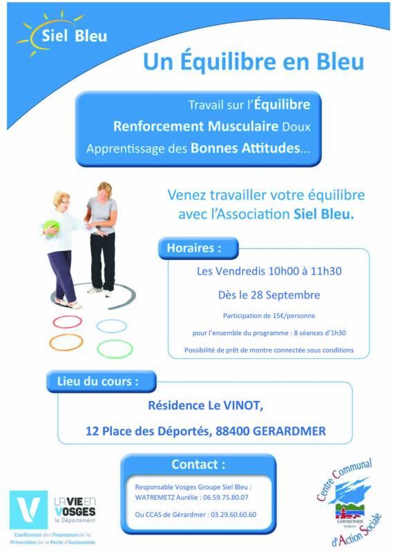 Affiche EEBC siel bleu plan seniors