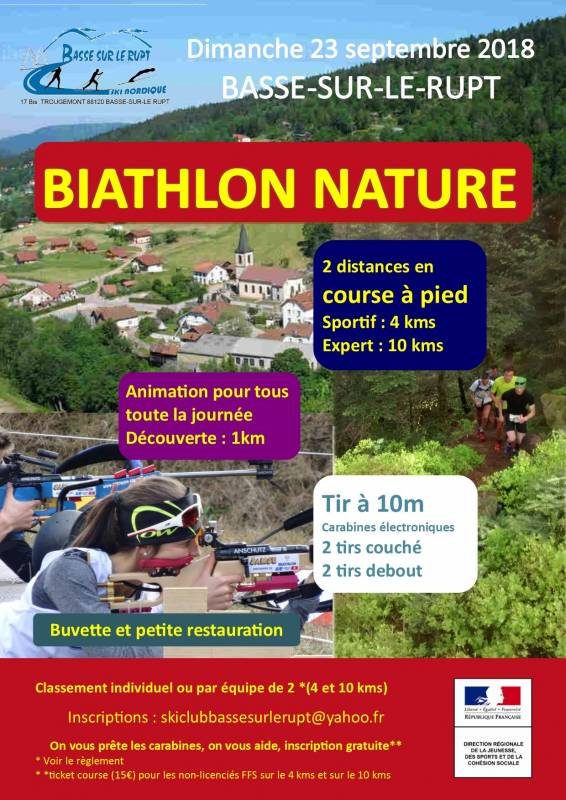 biathlon nature 23 sept 2018 Basse sur le Rupt