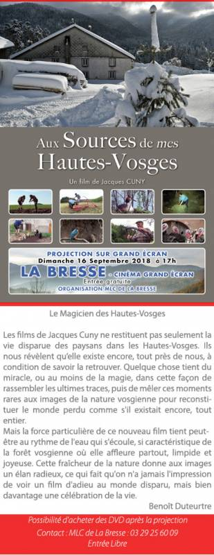 film jacues cuny projection la bresse