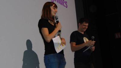 Louisiane Rivot et Loïc Moresi, maître de cette cérémonie de remise des prix.