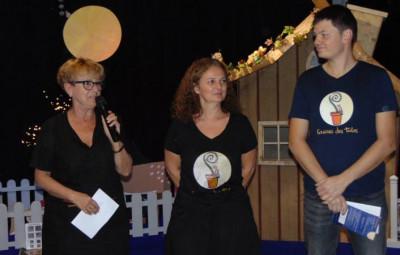 La président de la MCL en compagnie de la nouvelle directrice Ludivine Colomb et de Loïc Moresi.