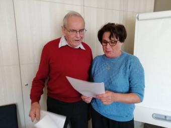 Le président des Toujours Jeunes de gérardmer Jean-Marie gabriel et sa secrétaire Monique Nacry