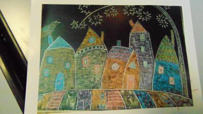 La version originale à la craie sur le tableau de l'ancienne école du Phény.