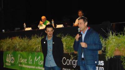 Le président du SNAM Raphaël Bonenfant (à gauche) en compagnie du maire gérômois Stessy Speissmann.