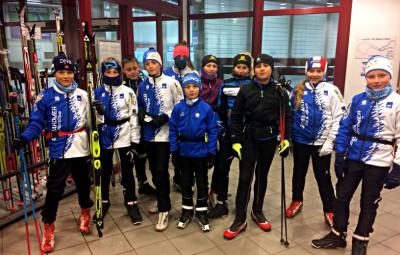Le groupe de stagiaires à Oberhof