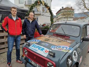 Charly (à gauche) & Francis avaient donné rendez-vous à tout le monde au Tramway à Gérardmer avant le grand départ !