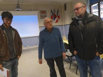 Le président Jacques Martin en compagnie de 2 nouveaux membres : Loïc Baur, jeune homme qui vient de créer sa petite société de prestation événementielle, et le jeune retraité Pascal Frédéric.