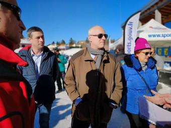 Pierre Ory (au centre) en compagnie de la sous-préfète et du maire Stessy Speissmann.