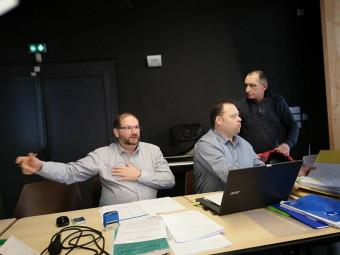 ici en compagnie du trésorier Georges Grosjean, Eric Tissant a été réélu au poste de président de l'UMG.