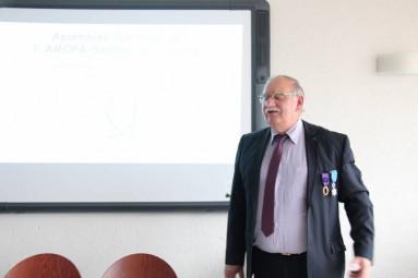 Gérard Michel, président de l'Ordre des palmes Académiques des Vosges.