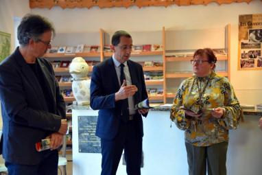Le directeur de l'OTI Bruno Poizat en compagnie du maire de Vagney Didier Houot
