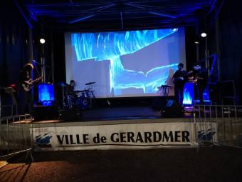 Totorro & Friends étaient programmés sur la place du Vieux Gérardmé vendredi soir