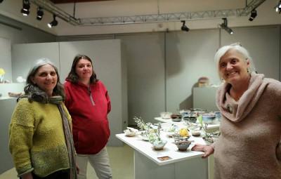 Nelly martinelli, Christine Ceccato & Marianne Succord exposent à la MCL.