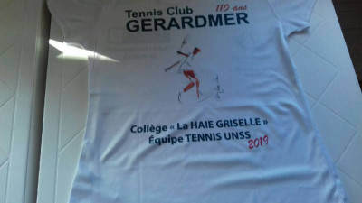 maillot ennis UNSS collège