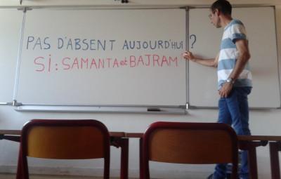 absents élèves albanais réfugiés