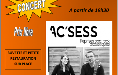 Concert groupe AC'CESS Tendon 28/06/2019