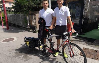Thomas & Matthias à l'occasion de leur petit pot de départ au Tramway à Gérardmer