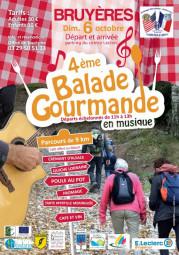 AFFICHE balade gourmande 2019 Bruyères