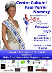 miss elegance lorraine affiche MEL2019