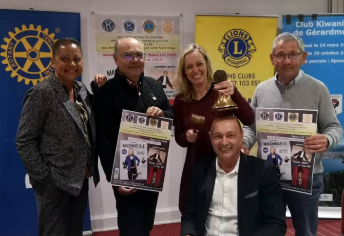 Projet 4 clubs Melle Serge kiwanis lions rotary