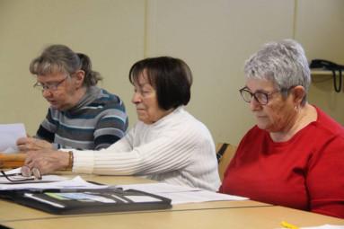 Chantal Lovato, à droite sur a photo, présidente départementale aux côtés de Juliette Coste, présidente de la section Gérardmer-Xonrupt.