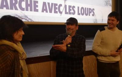 Jean-Michel bertrand et Marie Aniguet en compagnie de Loïc Moresi