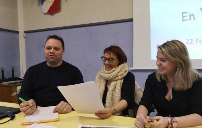 Georges Grosjean, Sylvia Bérard et Elysa Bérard.