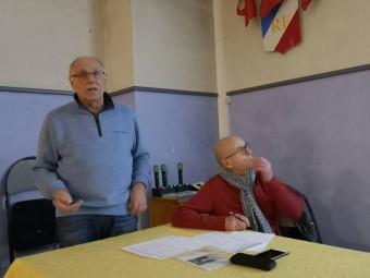Jacques Martin et Jacques Vincent, respectivement président et trésorier de l'association.