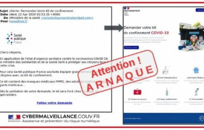 mail arnaque covid