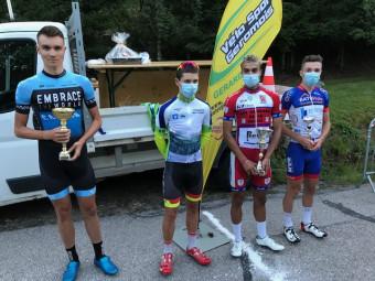 Podium avec le Champion des Vosges : SPARFEL Louis - CYCLE GOLBEEN