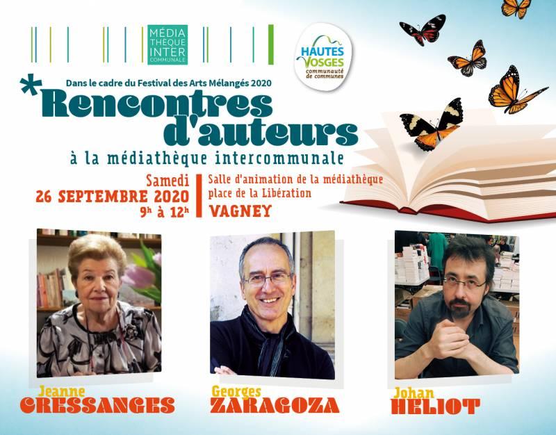 Rencontres d'auteurs à la Médiathèque Intercommunale des Hautes Vosges à Vagney