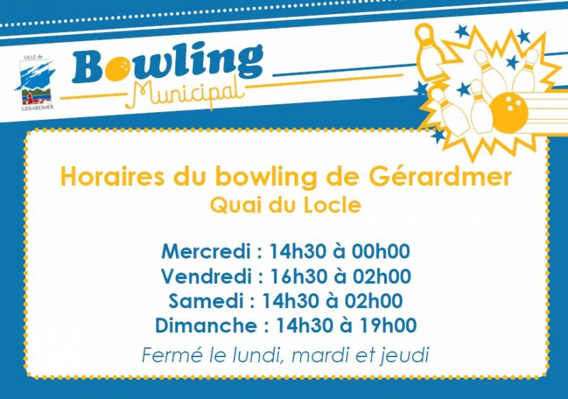 bowling horaires