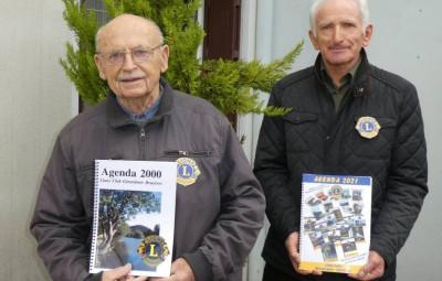 André Mathieu Président en 2000 et Bernard Masson, Président 2020-2021.