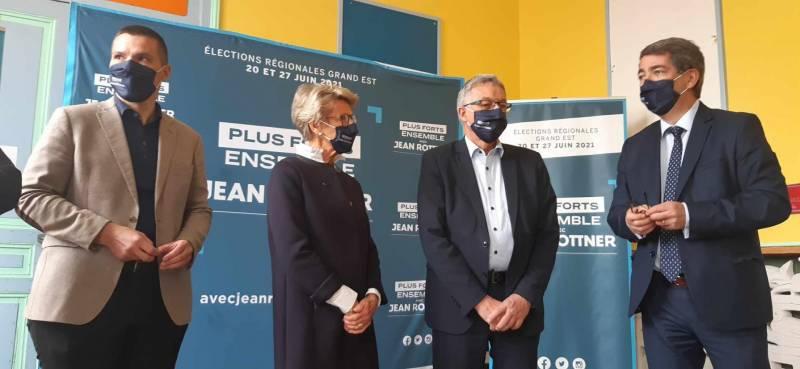 Élections régionales : Jean Rottner présente les candidats vosgiens de sa liste