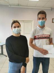 Les gagnants : Léo Leuenberger et Lily Ruaux