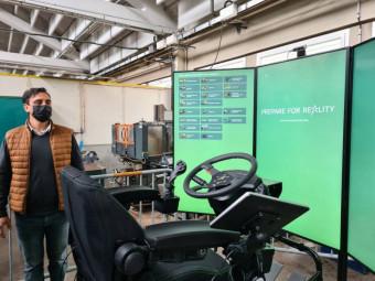 Un simulateur entièrement réglable et qui permet de se familiariser avec de très nombreux types de véhicules.