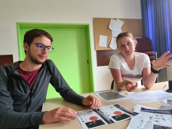 Mathilde Esselin et Luis Hermon.
